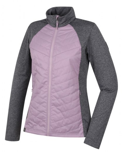 zateplovací full-zip HANNAH Dolores mauve shadows/light gray me mauve shadows/light gray mel 34