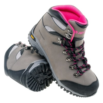 SAJAMA MID WP WO'S GREY/LIGHT FUCHSIA/BLACK